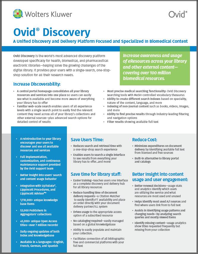 Oviddiscovery Factsheet