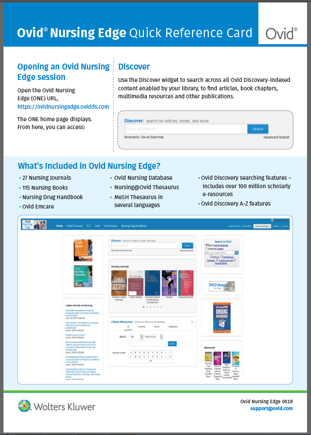 Ovid Nursing Edge Factsheet