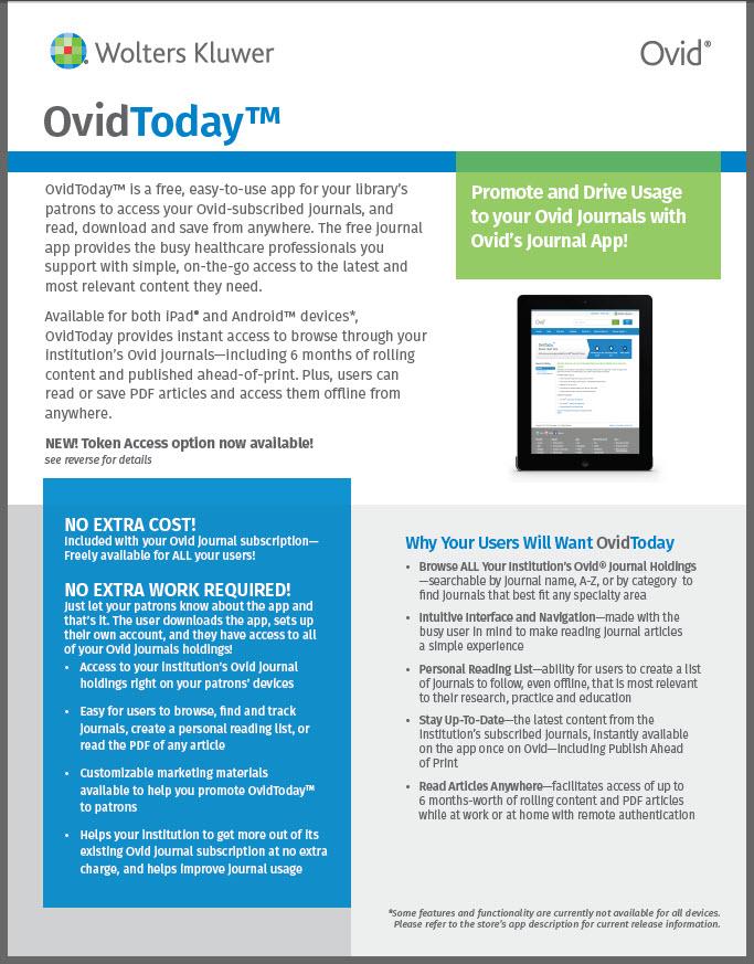OvidToday Factsheet